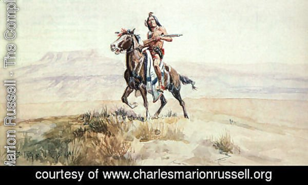 Charles Marion Russell - Red Man of the Plains 1901