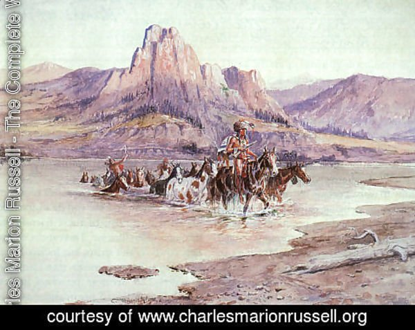 Charles Marion Russell - Return of the Horse Thieves 1900