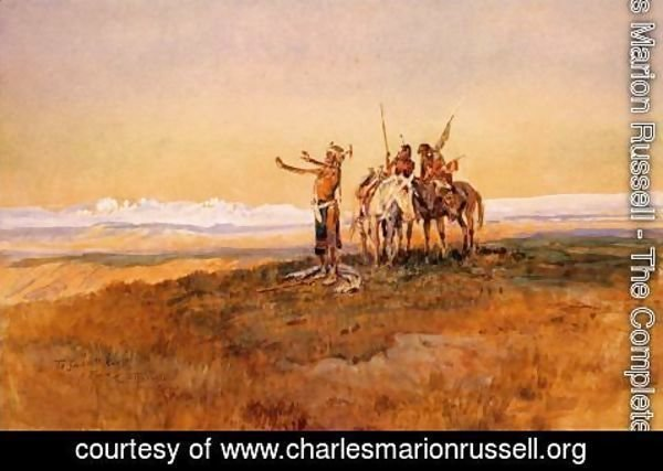 Charles Marion Russell - Invocation to the Sun