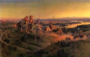 Charles Marion Russell - The Salute of the Robe Trade