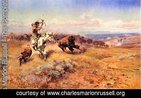 Charles Marion Russell - Horse of the Hunter (or Fresh Meat)