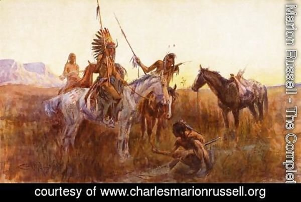 Charles Marion Russell - The Lost Trail