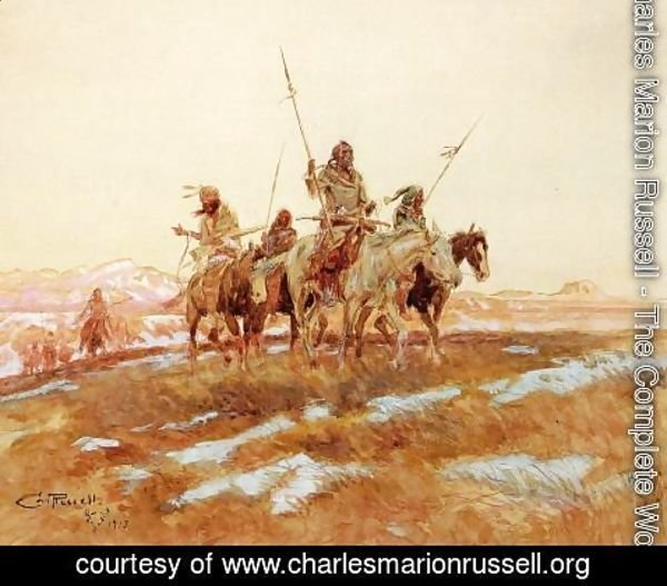 Charles Marion Russell - Piegan Hunting Party