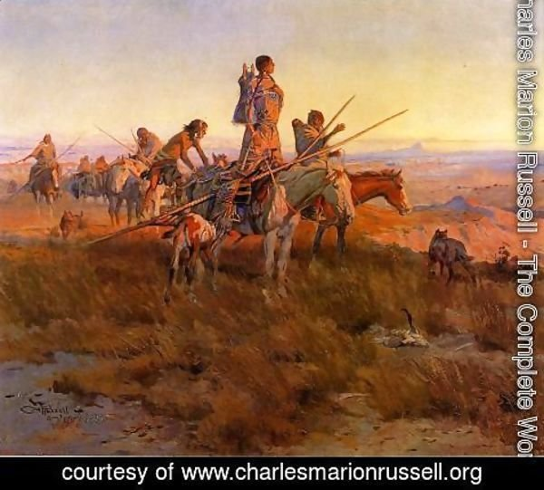 Charles Marion Russell - In the Wake of the Buffalo Hunters