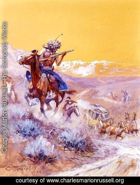 Charles Marion Russell - Indian Attack