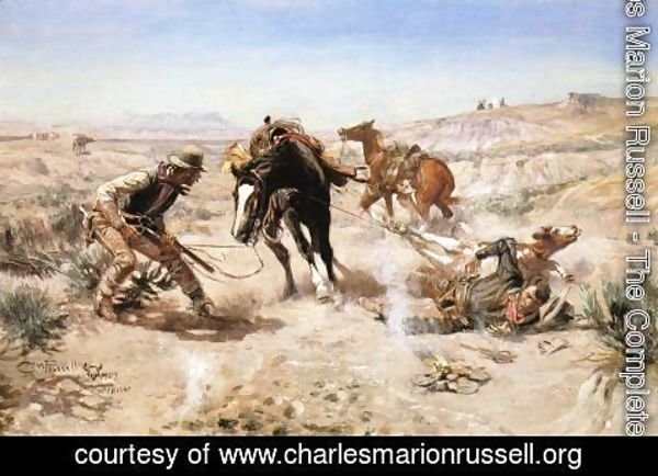 Charles Marion Russell - The Cinch Ring