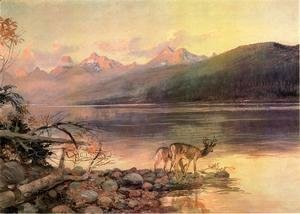 Charles Marion Russell - Deer at Lake McDonald