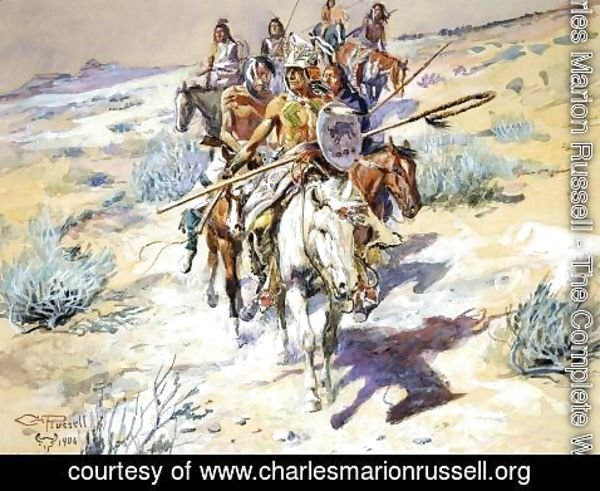 Charles Marion Russell - Return of the Warriors