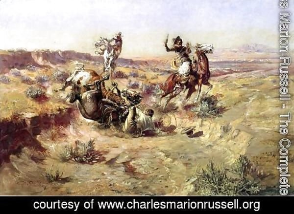 Charles Marion Russell - The Broken Rope