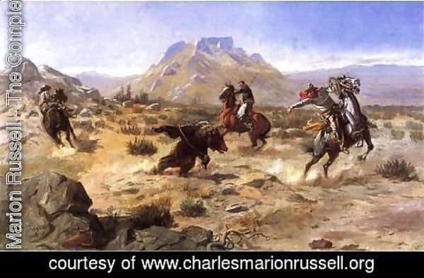 Charles Marion Russell - Capturing the Grizzly