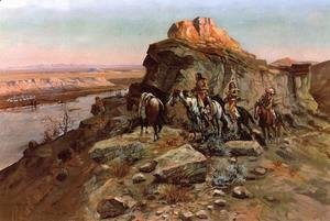 Charles Marion Russell - Planning the Attack