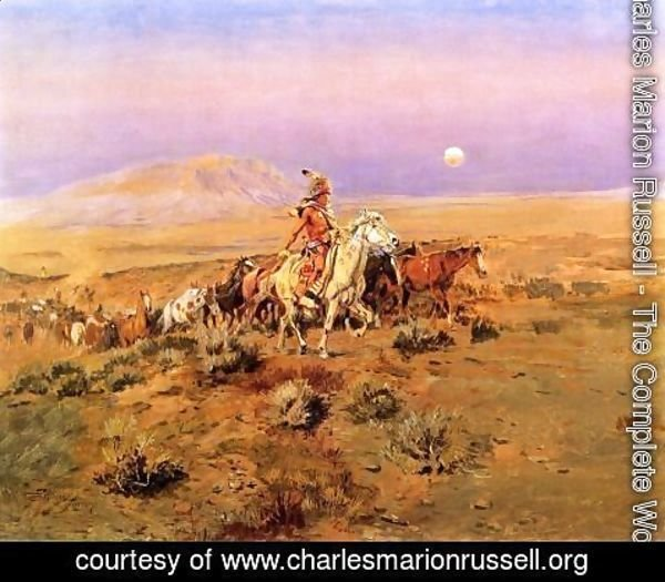 Charles Marion Russell - The Horse Thieves