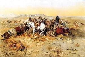 Charles Marion Russell - A Desperate Stand