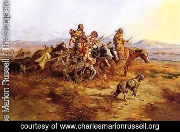 Charles Marion Russell - Indian Women Moving