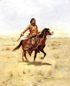 Charles Marion Russell - Indian Rider