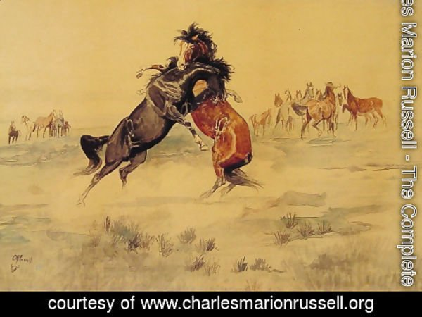 Charles Marion Russell - The Challenge