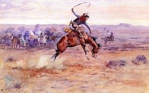 Charles Marion Russell - Bucking Bronco