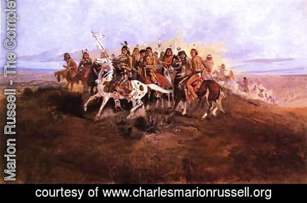 Charles Marion Russell - The War Party