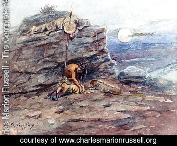 Charles Marion Russell - Mourning Her Warrior Dead 2