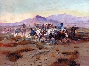 Charles Marion Russell - The Attack