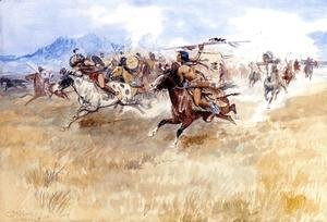 The Battle Between the Blackfeet and the Piegans