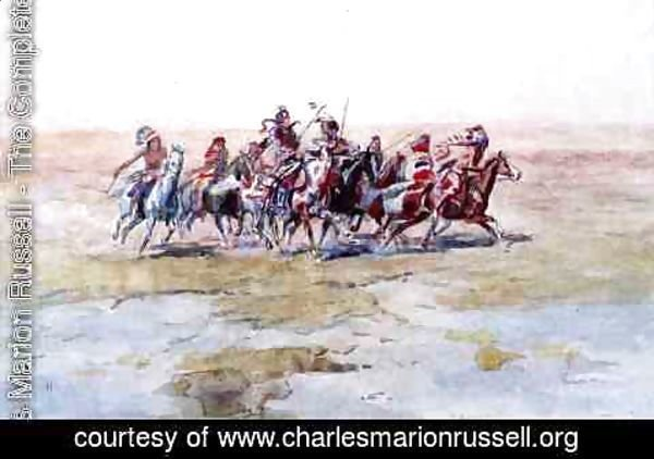 Charles Marion Russell - Cree War Party