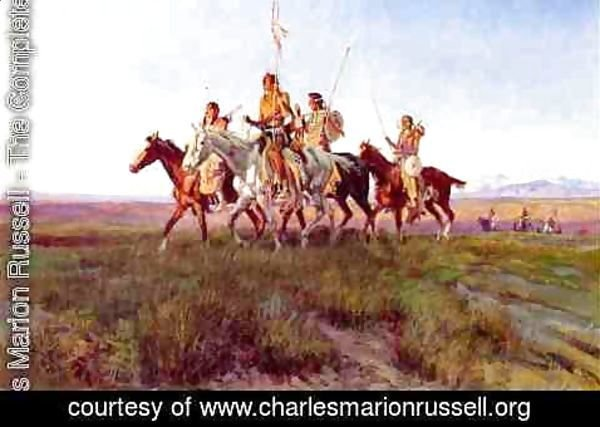 Charles Marion Russell - Return of the War Party