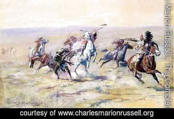 Charles Marion Russell - When Sioux and Blackfoot Meet