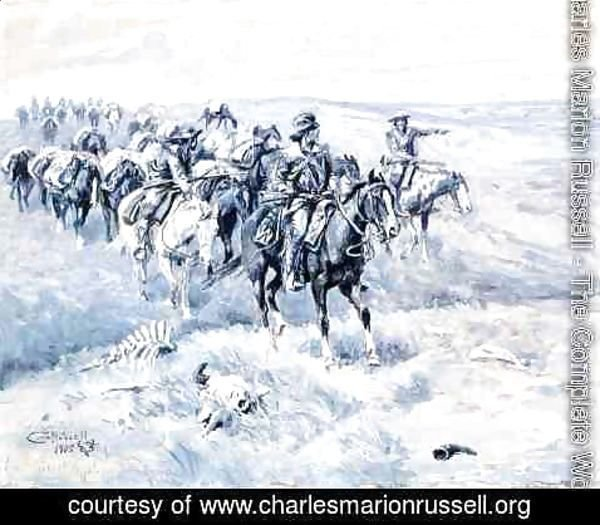 Charles Marion Russell - The First Trappers