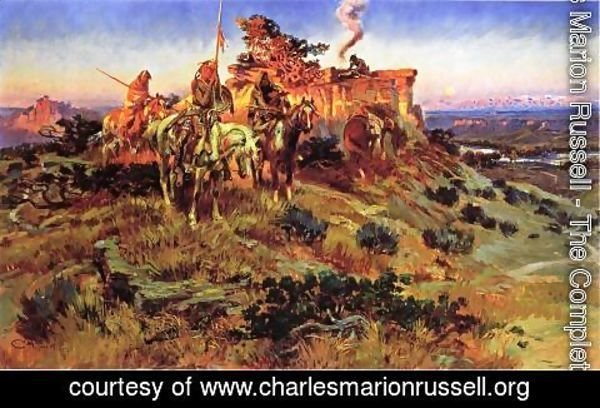 Charles Marion Russell - Smoke talk