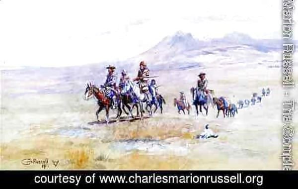 Charles Marion Russell - Coming across the Plain