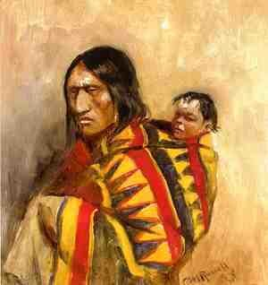 Charles Marion Russell - Stone-in-Moccasin Woman