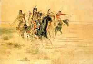 Charles Marion Russell - Indian Hunt