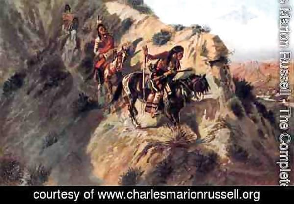 Charles Marion Russell - Scouting the Enemy