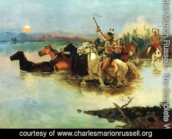 Charles Marion Russell - Crossing the Range