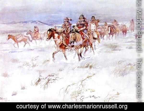 Charles Marion Russell - Crees Coming in to Trade