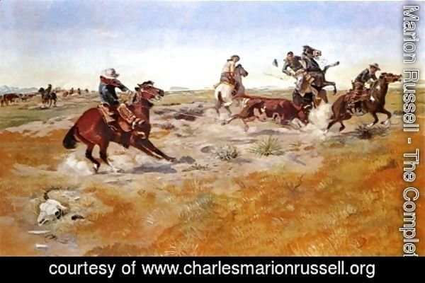 Charles Marion Russell - The Judith Basin Roundup