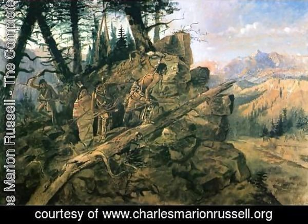 Charles Marion Russell - Plunder on the Horizon
