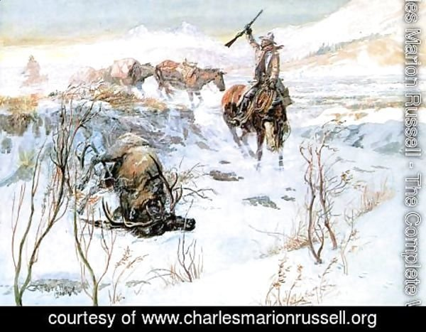 Charles Marion Russell - Christmas Dinner for the Men on the Trail
