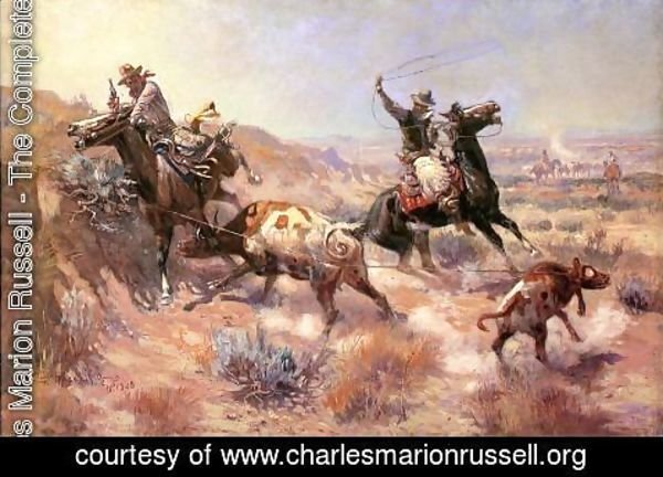 Charles Marion Russell - A Serious Predicament