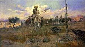 Charles Marion Russell - Bringing Home the Spoils