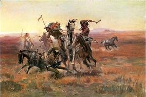 Charles Marion Russell - When Blackfeet and Sioux Meet