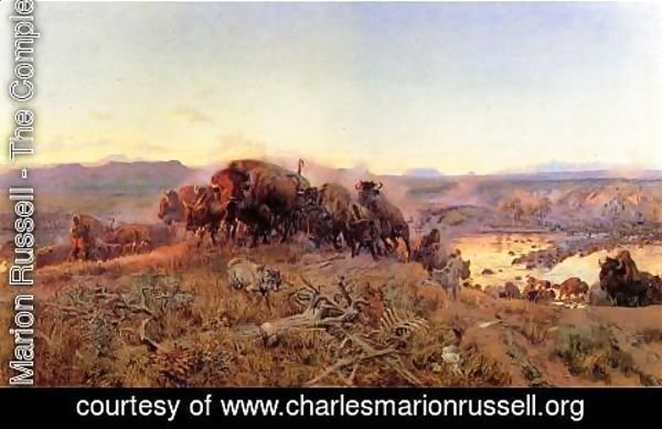 Charles Marion Russell - When the Land Belonged to God