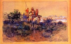 Charles Marion Russell - Return of the Navajos