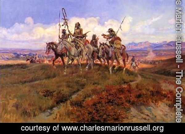 Charles Marion Russell - The Wolfmen
