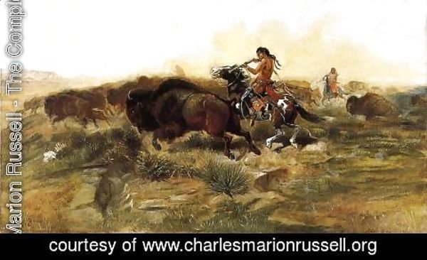 Charles Marion Russell - Wild Meat for Wild Men