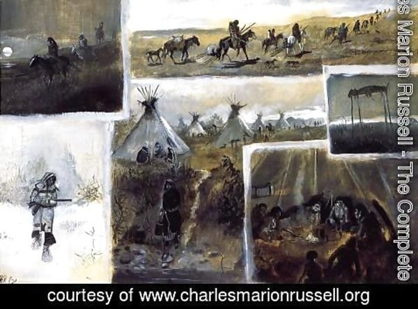 Charles Marion Russell - Western Montage