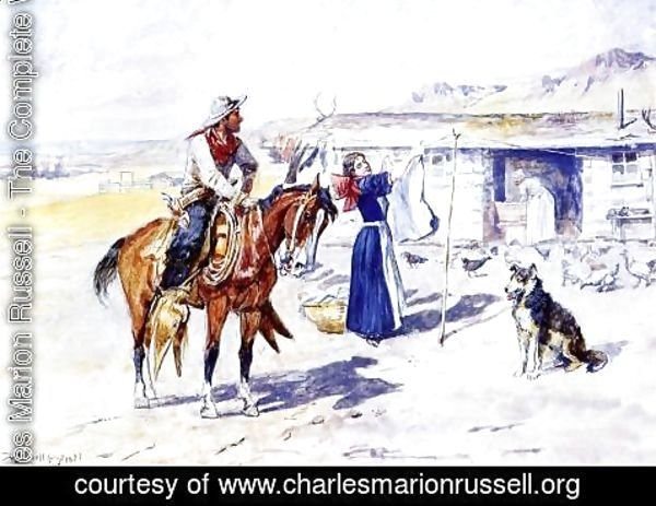 Charles Marion Russell - Thoroughman's Home on the Range