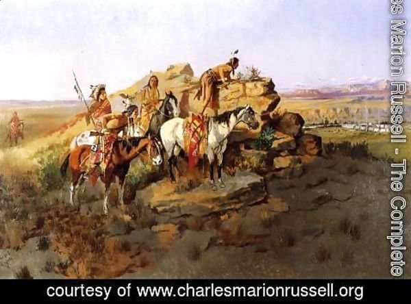Charles Marion Russell - Watching the Settlers