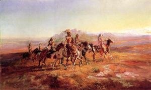 Charles Marion Russell - Sun River War Party